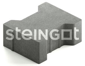 "Тротуарная плитка ""Катушка"" СИТИ без фаски  200x165, 80 мм ''STEINGOT''"