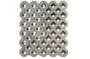 Бетонная газонная решетка серая (двуслойная) 400x600x100 ''BRAER''
