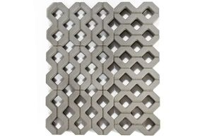 Бетонная газонная решетка серая (однослойная) 400x600x100 ''BRAER''