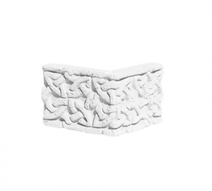 Карниз ''Плетенка'' угловой 123x122x84 ''Идеальный камень''