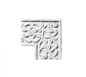 Карниз ''Орнамент'' 1 угловой вертикальный 302x306 ''Идеальный камень''