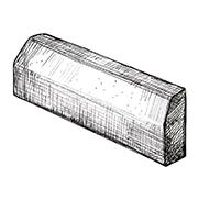 Бордюрный камень тротуарный 1000x100x250 мм ''342МЗ''