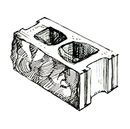 "Колотый 3-х сторонний пустотелый блок 390x190x190 мм Profi ''Фабрика ""Готика""''"