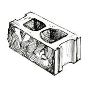 "Колотый 2-х сторонний пустотелый блок 390x190x190 мм Profi ''Фабрика ""Готика""''"