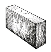 "Перегородочный полнотелый блок 390x90x190 мм Profi ''Фабрика ""Готика""''"