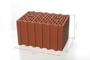 Поризованный керамический блок 38 10.7 НФ M100 380x250x219 ''BRAER''