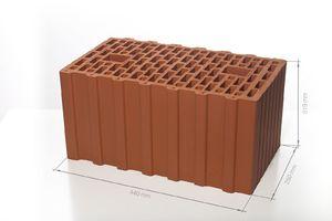 Поризованный керамический блок 44 12.4 НФM100/125 440x250x219 ''BRAER''