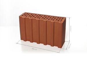 Поризованный керамический блок 5.2 НФ M125 (доборный) 380x130x219 ''BRAER''