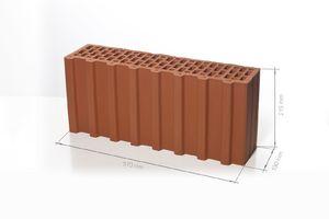 Поризованный керамический блок 7.1 НФ M100/125 (доборный) 510x130x219 ''BRAER''