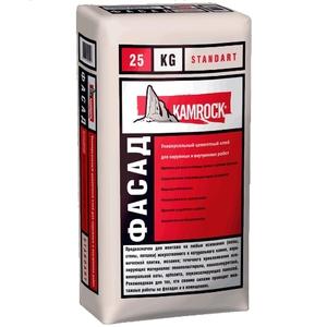 Универсальный цементный клей для наружных и внутренних работ «ФАСАД» Стандарт  ''KAMROCK''