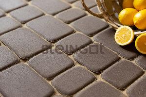 Тротуарная плитка Классика Темно-коричневая 60 мм Классика круговая ''Steingot''