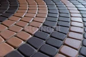 Тротуарная плитка Классика круговая Темно-коричневая 60 мм Классика круговая ''Steingot''