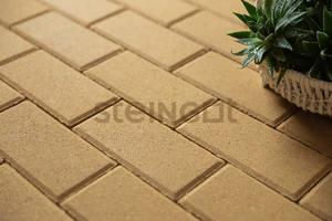 Тротуарная плитка Брусчатка 200*100*40 Желтая (полный прокрас)  Брусчатка ''Steingot''