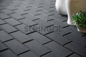 Тротуарная плитка Брусчатка 200*100*60 Черная (верхний прокрас)  Брусчатка ''Steingot''