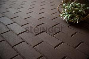 Тротуарная плитка Брусчатка 200*100*60 Темно-коричневая (верхний прокрас)  Брусчатка ''Steingot''