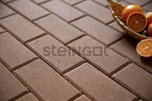 Тротуарная плитка Брусчатка 200*100*60 Коричневая (верхний прокрас)  Брусчатка ''Steingot''