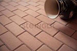 Тротуарная плитка Брусчатка 200*100*60 Бежевая (верхний прокрас)  Брусчатка ''Steingot''