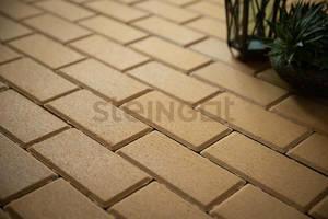 Тротуарная плитка Брусчатка 200*100*60 Желтая (верхний прокрас)  Брусчатка ''Steingot''