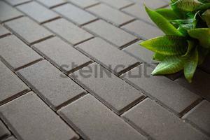 Тротуарная плитка Брусчатка 200*100*80 Серая (полный прокрас)  Брусчатка ''Steingot''