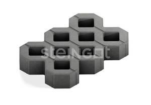 Тротуарная плитка Газонная решетка Серая x60 мм Газонная решетка ''Steingot''