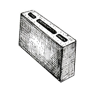 "Перегородочный пустотелый блок 390x80x190 мм Profi ''Фабрика ""Готика""''"