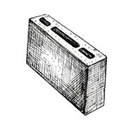 "Перегородочный пустотелый блок 390x90x190 мм Profi ''Фабрика ""Готика""''"