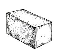 "Полнотелый блок 390x190x190 мм Profi ''Фабрика ""Готика""''"
