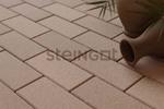 Тротуарная плитка Брусчатка 200*100*60 Бежевая (верхний прокрас, минифаска)  Брусчатка ''Steingot''