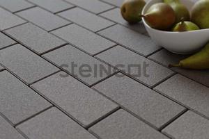 Тротуарная плитка Брусчатка 200*100*60 Серая (полный прокрас, минифаска)  Брусчатка ''Steingot''