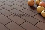 Тротуарная плитка Брусчатка 200*100*60 Темно-коричневая (верхний прокрас, минифаска)  Брусчатка ''Steingot''