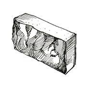 "Колотый полнотелый блок 390x95x190 мм Profi ''Фабрика ""Готика""''"