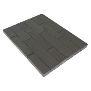 Тротуарная плитка Домино, Серый (60 мм) 280x120, 360x120, 480x120, 480x160, 640x160 ''BRAER''