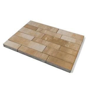 """Тротуарная плитка Домино, """"Плато"""" (60 мм) 280x120, 360x120, 480x120, 480x160, 640x160 ''BRAER''"""