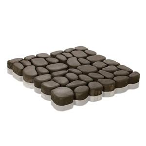 Тротуарная плитка Грин Галет, Серый (80 мм) 500x500 ''BRAER''