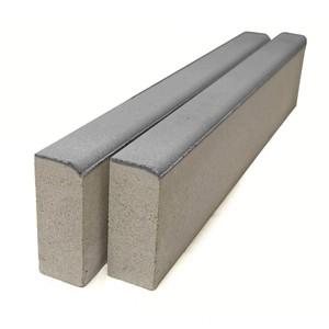 Бордюр тротуарный БР 100.20.8 серый, однослойный 1000x80x200 мм  ''BRAER''