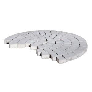 Тротуарная плитка Классико круговая, Серебристый (60 мм) 73x110x115 ''BRAER''