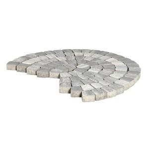 "Тротуарная плитка Классико круговая, ""Туман"" (60 мм) 73x110x115 ''BRAER''"