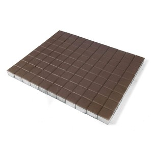 Тротуарная плитка Лувр, Коричневый (60 мм) 100x100 ''BRAER''