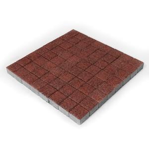 Тротуарная плитка Лувр, Гранит красный, h=60 мм