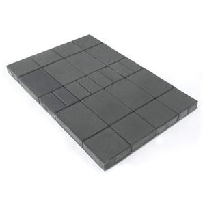 Тротуарная плитка Мозаика, Серый (60 мм) 200x100, 200x200, 300x200 ''BRAER''
