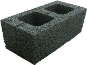 Камень стеновой керамзито-бетонный КсЛКБ-2Пс 390x190x190 ''Лидер''