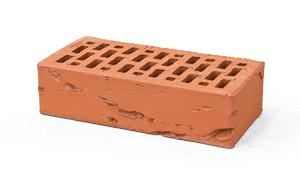 Лицевой кирпич Красный кора дуба 1 НФ M150 250x120x65 ''BRAER''