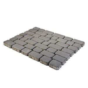 Тротуарная плитка Ривьера, Серый (60 мм) 132x132, 165x132, 198x132, 231x132, 265x132 ''BRAER''