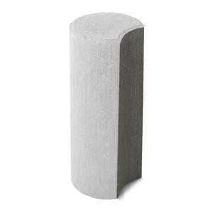 Бетонный столбик ограждения Палисад белый 100x100x250 мм  ''BRAER''