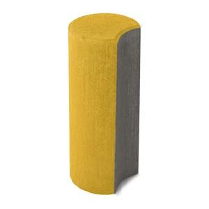 Бетонный столбик ограждения Палисад желтый 100x250 ''BRAER''