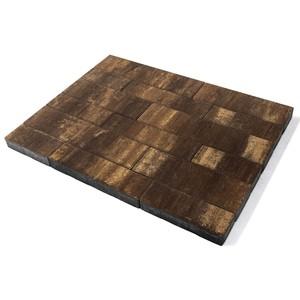 """Тротуарная плитка Домино, """"Каштан"""" (60 мм) 280x120, 360x120, 480x120, 480x160, 640x160 ''BRAER''"""