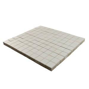 Тротуарная плитка Лувр, Белый 100x100x60 мм  ''BRAER''