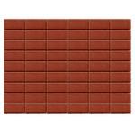Тротуарная плитка Прямоугольник, Красный (40 мм) 200x100 ''BRAER''