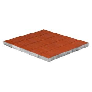 Тротуарная плитка Прямоугольник, Красный (60 мм) 200x100 ''BRAER''