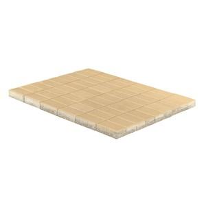 Тротуарная плитка Прямоугольник, Песочный (40 мм) 200x100 ''BRAER''